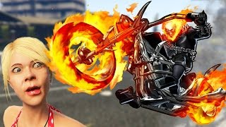GHOST RIDER MOD! (GTA 5 Mods Funny Moments)