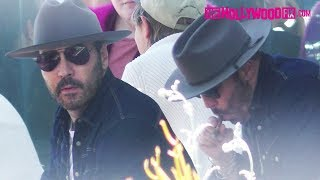 Jeremy Piven Steps Out For A Smoke Break With His Dog While Grabbing Coffee At Blue Bottle 5.16.19