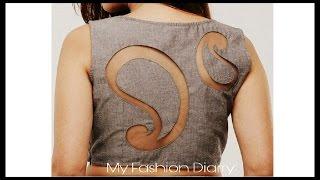 DIY | latest back blouse design | convert ur old blouse back to latest back design