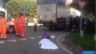 Donna schiacciata dalle ruote del camion. Investimento mortale a Soncino