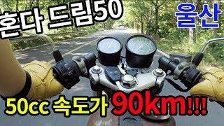 50cc 최강 오토바이 90km 까지 계기판을 그냥 꺽어버리는 드림50[울산 정상인]