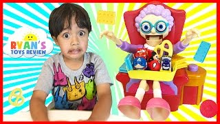 GREEDY GRANNY GAME Family Fun Game For Kids Disney Toys Chocolate Egg Surprise Ryan ToysReview