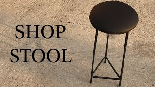 Making A Shop Stool Out Of Rebar