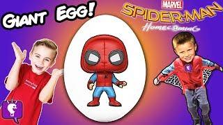 Giant🕷 SPIDERMAN Web Egg! Toys + Biggest Surprises, Play Kids Blasters HobbyKidsTV