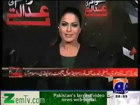 Veena Malik in Awaam Ki Adalat - GEO TV