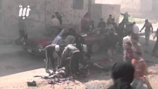مجررة مروعة بحق المدنيين نتيجة قصف احياء درعا البلد بالمدفعية الثقيلة+18 ج2 26-3-2015