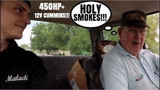OLD MAN VS. MY 450HP+ 5 SPEED 12V CUMMINS!?!?