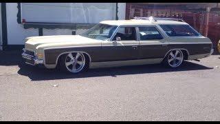 Bagged 1972 Chevy Kingswood estate wagon lowrod Impala Capr