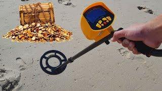 Procurando TESOUROS na Praia com um Detector de Metais!!