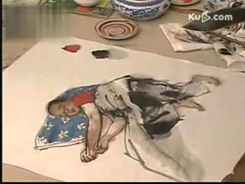 中� 画人物的画法技法教学视频(� 画教程)