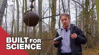 Making Artificial Earthquakes with a Four-Tonne Steel Ball