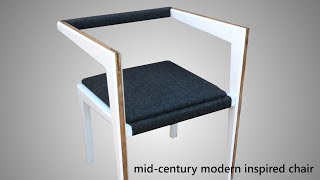 The Linger Chair - DIY Mid-Century Modern Influenced Chair