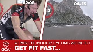 Get Fit Fast: 40 Minute Indoor Cycling Sweetspot Workout – Passo Falzarego