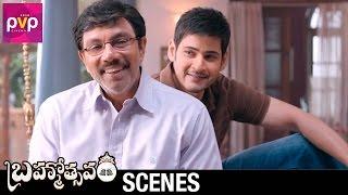 Mahesh Babu Teases Sathyaraj   Brahmotsavam Telugu Movie   Samantha   Pranitha   Kajal Aggarwal