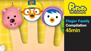 [Pororo Nursery Rhymes] Finger Family and More (45min)