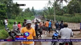 Lahar Dingin Sinabung Menerjang Permukiman Warga - NET5