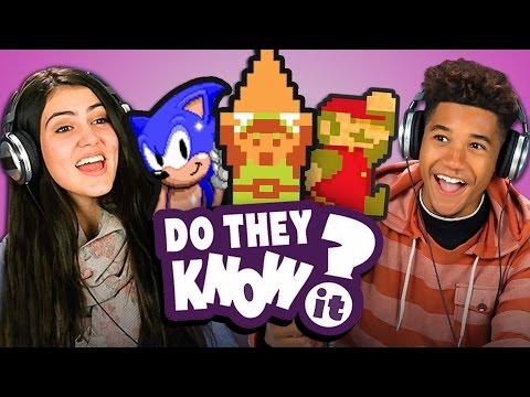 DO TEENS KNOW CLASSIC VIDEO GAME THEMES REACT Do They Know It
