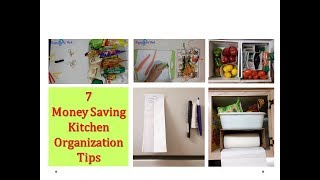 How to Organize kitchen without spending money - 7 tips for Organized kitchen ( DIY organizers)