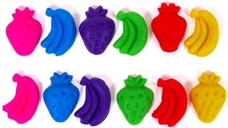 Play Doh Learn Colors with Fruit Playdough for Children