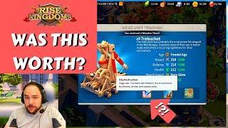T5 SIEGE UNLOCKED, 100% MAX TECH!  | Rise of Kingdoms