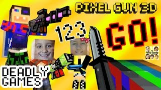 Let's Play Pixel Gun 3D: DEADLY GAMES & Science Lab + Duddy got a new Skin! (Dad & Kids)