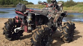 Atv gone wild ,mud explosion