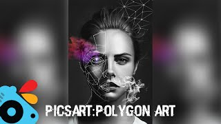 Make Polygon Face! PicsArt Tutorial (2016)