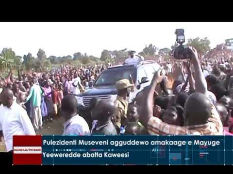 Pulezidenti Museveni agguddewo amakaage e Mayuge