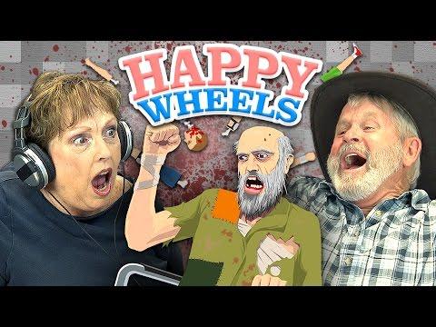HAPPY WHEELS Elders React Gaming