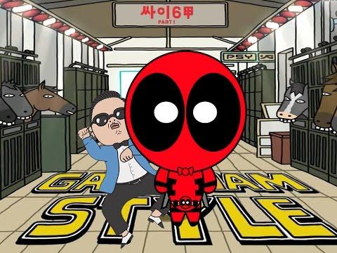 Deadpool vs Gangnam Style | PSY Parody