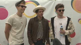 V Festival: The Vamps do their best Essex accents