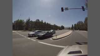 Driving in Valencia CA - West Bound Newhall Ranch Road to South Bound McBean