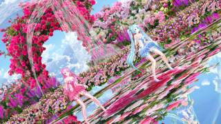 MMD Tda Miku Luka Bad Apple Rose Garden