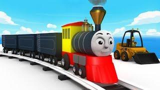 Cartoon Cartoon - Train Cartoon - Chu Chu Train - Kids Railway - Toy Trains - Toy Factory Cartoon