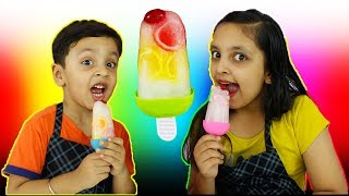 JELLY ICE CANDY | Learn colours shapes | Kids Cooking real food | Aayu And Pihu Show