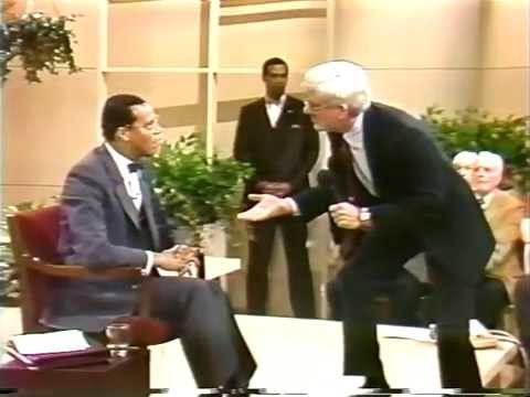 Minister Farrakhan s First Appearance On Donahue 1985.