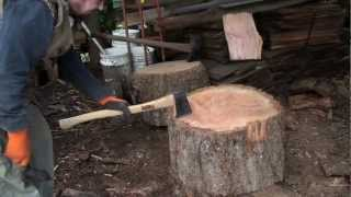 Split Big Rounds of Firewood Quick, Easy and very little Effort!