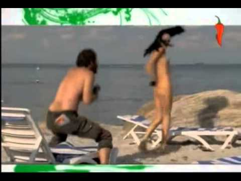Pull Her Bikini on the Beach Naked And Funny
