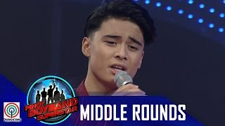 "Pinoy Boyband Superstar Middle Rounds: Russell Reyes - ""Kung  Ako Na Lang Sana"""