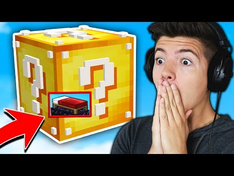 BUILDING A LUCKY BLOCK in BED WARS Minecraft BED WARS Trolling