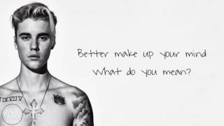 Justin Bieber - What Do You Mean? (Acoustic Lyric Version)