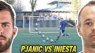 PJANIC VS INIESTA - Champions LEAGUE | Free Kick Tutorial