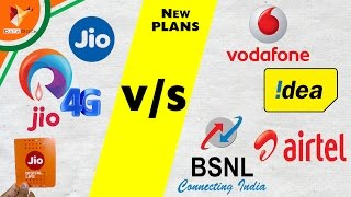 Jio Sim v/s Vodafone Airtel BSNL & IDEA - All New Launched Plan Compared - Data Dock