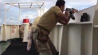 Türk gemisine korsan saldırısından nefes kesen çatışma anları!