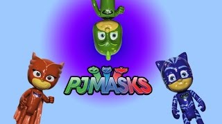PJ MASKS Disney PJ Masks Catboy + Gecko + Owlette PJ Masks Headquarters Video Toys Video Reveal