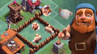 TRAP GIANTS INSIDE YOUR TROLL BASE | Clash of Clans | Builder Base Funny Fails