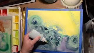 Watercolor Techniques Batik