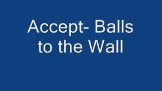 Accept- Balls to the Wall