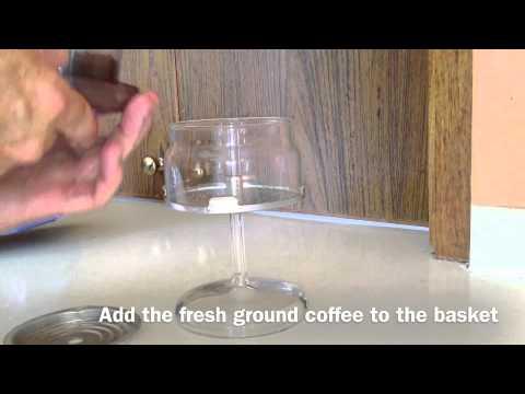Pyrex Flameware 6-Cup Coffee Percolator & how I make Coffee   iMovie iPhone 4S