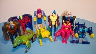 2000 MCDONALD'S TRANSFORMERS BEAST MACHINES SET OF 9 HAPPY MEAL TOY REVIEW